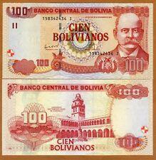 Bolivia, 100 Bolivianos, L. 1986 (2012) Pick 241, Serie I, UNC