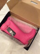 Nuevo Y En Caja Hunter Original Tall Botas Wellington Wellies Fucsia Reino Unido 8