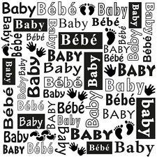 Nellie Snellen Multi Language Embossing Folder MLTXT004 Baby