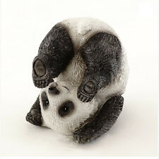 "2.25"" Yoga Panda - Plow Pose Statue Miniature Fairy Garden Decor Dollhouse"