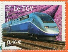 FRANCE 2002, timbre 3475, SIECLE AU FIL, TRANSPORTS, TRAIN TGV, VF MNH STAMP