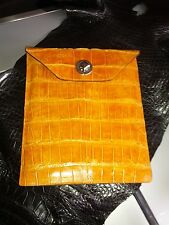 Alligator Leather IPad Kindle Notepad Cover croc gator swamp exotic Case