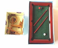 2 HICKLETON DOLLS HOUSE FURNITURE, WOODEN SNOOKER TABLE & SPINNING WHEEL.1:12.