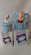 United Feature 1990's Willitts Design Linus Creamer and Snoopy Sugar MIB #H148
