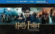 NEW Harry Potter: Hogwarts Collection Blu-ray DVD Digital HD 31-Disc Set