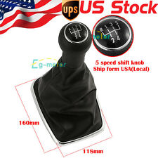 Black Gear shift Knob & gaitor Boot For VW Golf MK4 Jetta Bora GTI R32 New