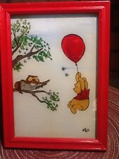Hand Painted on Glass - Winnie the Pooh Signed LRC