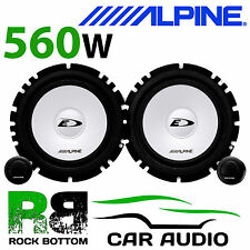 "ALPINE BMW 3 SERIES E46 1998-05 6.5"" 17cm 560W Component Front Door Car Speakers"