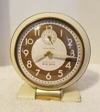 Vintage 1940-48 Westclox Big Ben Wind Up Art Deco WW2 Era CHIME Alarm Clock