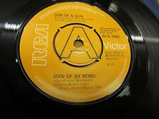 "DEMO 1975 7"" RCA 2582 45rpm SON OF A GUN ""MAN OF MY WORD"" MELYS PRESS. N.MINT!"