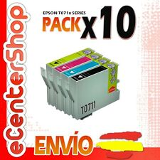 10 Cartuchos T0711 T0712 T0713 T0714 NON-OEM Epson Stylus SX115