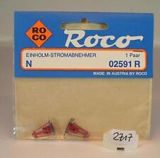 Roco N 02591 R Ersatz Einholm-Stromabnehmer 1 Paar OVP #2717