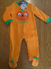 BNWT baby girl / boy pumpkin Halloween fancy dress up outfit. warm. 9-12mths.