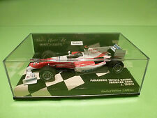 MINICHAMPS F1 TOYOTA RACING SHOWCAR 2009 - PANASONIC TRULLI - 1:43 - MIB