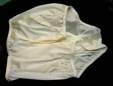 VANITY FAIR PERFECTLY YOURS LACE YELLOW 13001/13801 NYLON BRIEFS PANTIES~12/5XL~