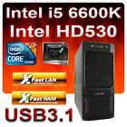 ASRock Z170-Aufrüst-PC Intel Core i5 6600K 4x3,90GHz-8GB DDR4-HD530 Grafik-