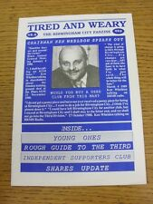 1988/1989 Birmingham City: fanzine-cansado y cansado-Edición 06. este artículo tiene B