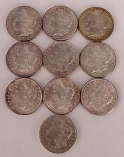10 Morgan Silver Dollars 1886 to 1890 Lot 3510
