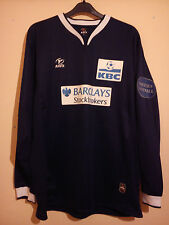 KBC MASTERS FOOTBALL MATCH WORN SHIRT BARCLAYS STOCKBROKERS # 2 SIZE XL L/S VGC