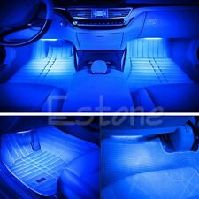 HighQuality DIY Blue 2X12 LED Car Interior Footwell Floor Decor Light NeonStrips