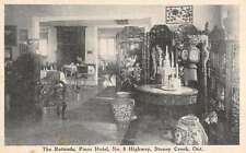 Stoney Creek Ontario Canada Pines Hotel Rotunda Interior Antique Postcard K20758