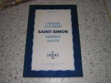 1980.horloge & miroir.mémoires Saint-Simon / Coirault.envoi autographe