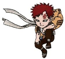 "Naruto Kneeling Gaara Figure Embroidered  4"" Patch"