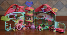 Littlest Pet Shop Biggest House Lot w/ Dachshund Dogs Cats Rares Accessories Key