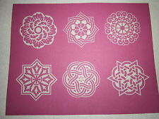 "PHOTO EZ SILK SCREEN 4"" X 5""  POLYMER CLAY - CELTIC BLOSSOMS DESIGNS  SHIPS FREE"