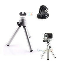 Silver Extendable Tripod Bracket Stand For Gopro Hero & Sony Action Cam & SJCAM