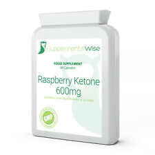 Raspberry Ketone 600mg Capsules x 60 Weight Loss Slimming Diet Pills Supplement