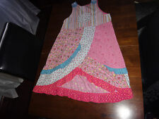 Girls Oilily summer Patchwork bib style dress size 152/11-12 Euc