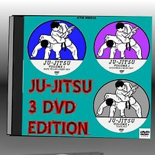 JU-JITSU 3 DVD'S EASY TO FOLLOW TRAINING LESSONS  2+ HRS  ALL LEVELS DEMOS  NEW