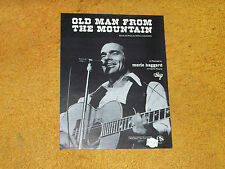 Merle Haggard sheet music Old Man from the Mountain 1974 4 pages (NM shape)