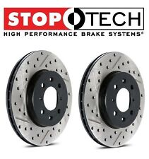 Audi A3 VW Golf GTI Jetta Set of Front Drilled & Slotted Brake Discs StopTech