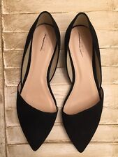 J.Crew $148 Sloan Suede D'Orsay flats 11 e0033 black shoes CURRENT STYLE