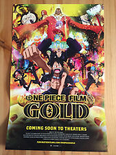 RARE One Piece Film Gold 11x17 Poster Funimation 2016 NYCC Anime Exclusive