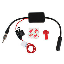 Black Car Automobile Antenna Radio Signal Booster ANT-208 Amplifier Amp 2016