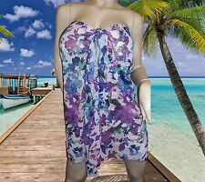 NWT GOTTEX GIDEON OBERSON Fantasia Multicolor BATHING SUIT COVER UP SARONG - OS