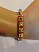 Juicy Couture Dark red Skinny Leather Pyramid Bracelet YJRU7130