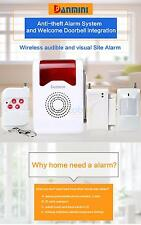 Home Security Wireless Burglar Detector Sensor Flashing Light Alarm System US