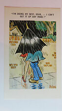 PEDRO Funny Risque 1960s Postcard Mini Skirt Rain Umbrella Outdoor Sex