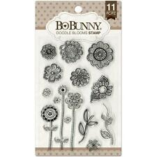 FLOWERS Doodle Blooms Clear Unmounted Rubber Stamps Set BOBUNNY 12105441 New