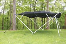 NEW VORTEX SQUARE TUBE FRAME 4 BOW PONTOON/DECK BOAT BIMINI TOP 8' BLACK 97-103""