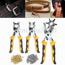 3 in1 Leather Belt Hole Punch+ Eyelet Plier +Snap Button Grommet Setter Tool Kit