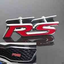 Red RS grill badge audi vw Decoration 3D Metal Front Grille Grill Badge Emblem