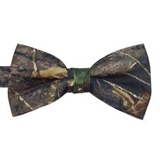 NEW Men's Real Mossy Oak Bow Tie BREAK UP Camo Camouflage Banded Adjustable