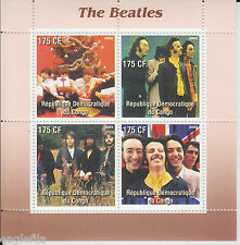 CONGO  2003  The Beatles Music Group  4v  MNH  Sheet  # 70201
