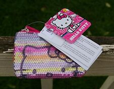 Hello Kitty Sanrio Pink Sequin Zipper Coin Purse Pouch FAB Starpoint 2013