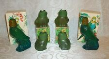 Lot of 6 Vintage Cologne Decanters By Avon Island Parakeet & Emerald Prince